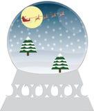 Рождество Snowglobe Стоковые Изображения