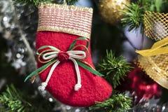Рождество socks смертная казнь через повешение на дереве Chrismas стоковые фото
