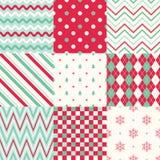 Рождество stripes геометрическая предпосылка Стоковое Фото