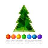 Рождество tree-16 иллюстрация штока
