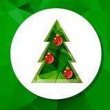 Рождество tree-05 иллюстрация штока