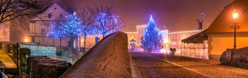 Рождеств-свет-Samobor-Хорватия Стоковые Фотографии RF