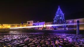 Рождеств-улиц-свет-Samobor-Хорватия Стоковое Фото