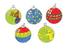 Рождеств-шарики иллюстрация вектора