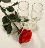 Роза и стекло Стоковое Изображение