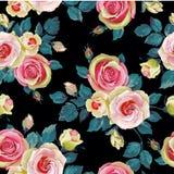 роза картины безшовная Иллюстрация штока