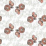 роза картины безшовная Стоковые Изображения