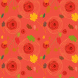 роза клена листьев предпосылки безшовная Стоковое Изображение RF