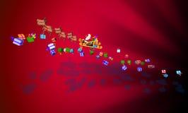 розвальни claus santa Стоковое Изображение