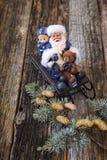 розвальни claus santa Стоковые Фото