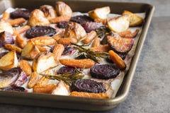 Розмари зажарило в духовке овощи корня Стоковые Изображения RF