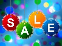 Розница предложения выставок продажи детей и дешево иллюстрация вектора