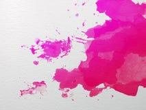 Розовая акварель Стоковые Изображения RF