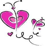 Розовая бабочка стоковое изображение rf