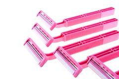 розовая безопасность бритв Стоковые Фотографии RF