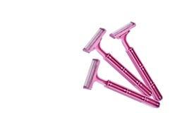 розовая безопасность бритв Стоковое фото RF