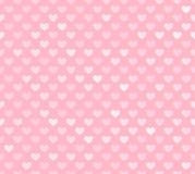 Розовая безшовная картина сердца Стоковые Изображения