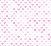 Розовая безшовная картина сердца Стоковая Фотография