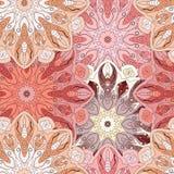 Розовая безшовная картина с восточным флористическим орнаментом Флористический восточный дизайн в ацтеке, turkish, Пакистане, инд Стоковые Изображения