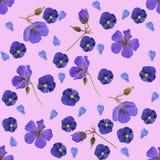 Розовая безшовная картина с цветками стоковое фото rf
