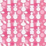 Розовая безшовная картина с дух Иллюстрация вектора