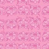 Розовая безшовная предпосылка с розовыми орхидеями Стоковая Фотография RF