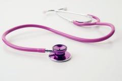 розовая белизна стетоскопа Стоковые Фотографии RF