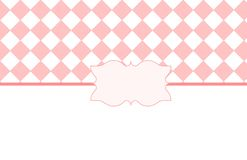 Розовая белая карточка валентинки Стоковые Фотографии RF