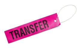 Розовая бирка перехода стоковое изображение