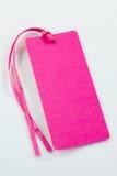 розовая бирка Стоковое Изображение RF