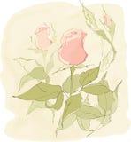 Розовая ветвь конструкция предпосылки ваша Стоковые Изображения RF
