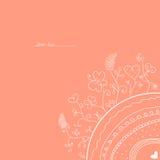 Розовая винтажная карточка Стоковые Изображения RF