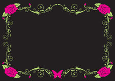 Розовая винтажная рамка Стоковые Фотографии RF
