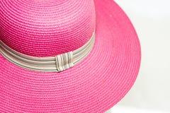 Розовая винтажная шляпа weave Стоковая Фотография RF