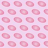 Розовая вращая картина круга безшовная иллюстрация вектора