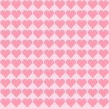 Розовая вышивка крестиком сердец Стоковое Изображение