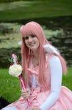 Розовая девушка стоковые фото