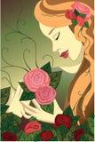 Розовая девушка стоковые изображения rf