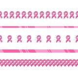 Розовая лента, международный символ осведомленности рака молочной железы Стоковое фото RF