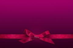 Розовая лента на фиолетовой предпосылке Стоковое Изображение RF