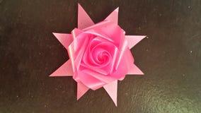 Розовая лента подняла Стоковое Изображение