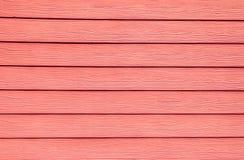 Розовая деревянная предпосылка стены Стоковое фото RF