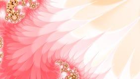 Розовая желтая белая спиральная предпосылка конспекта свирли фрактали волны для карточки, знамени, приглашения, обоев или ткани иллюстрация вектора
