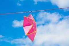 Розовая звезда фонарика стоковая фотография rf