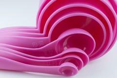 Розовая измеряя ложка Стоковая Фотография