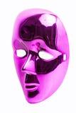 Розовая изолированная маска Стоковая Фотография