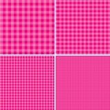 Розовая и белая предпосылка для пикников 10 eps Стоковое Изображение RF