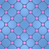 Розовая и голубая мозаика Стоковое фото RF