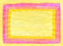 Розовая и желтая рамка иллюстрация штока