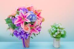 Розовая лилия для предпосылки Стоковые Изображения